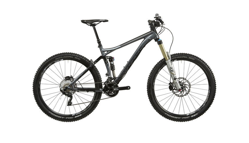 "VOTEC VM MTB full suspension Comp 27.5"" donkergrijs / mat zwart"